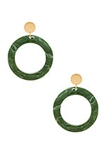 Amber Sceats Cairo Earrings in Green