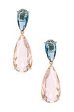 Amber Sceats Gem Earrings in Blush & Blue