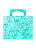 Amber Sceats Marble Box Clutch in Blue