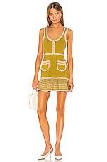 Alice McCall Heaven Help Mini Dress in Tigers Eye