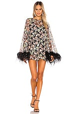 Alice McCall Celestial Creature Feather Swing Dress in Black