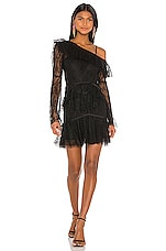 Alice McCall Shadow Love Mini Dress in Black