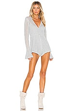 Alice McCall Magic Playsuit in Silver