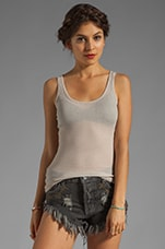 Los Angeles Round Neck Tank in Elephant