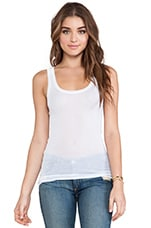 Massachusetts Round Neck Tank Top in White