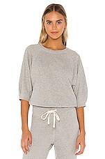 AMO Puff Sleeve Sweatshirt in Heather Grey