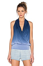 Agnes Top en Blue Dip Dye