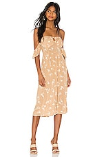 AMUSE SOCIETY Regency Midi Dress in Latte