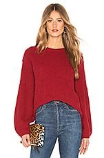 AMUSE SOCIETY Rodas Sweater in Crimson