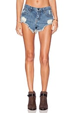 Crossroad Denim Short in Light Blue Vintage