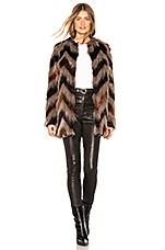 AMUSE SOCIETY Waylon Faux Fur Jacket in Black