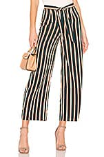 AMUSE SOCIETY Earn Your Stripes Pant in Emerald