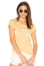 AMUSE SOCIETY Sandy Cheeks Tee in Vintage Gold