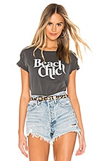 AMUSE SOCIETY Beach Chic Tee in Charcoal