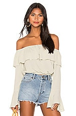 AMUSE SOCIETY Cafecito Top in Palm Green
