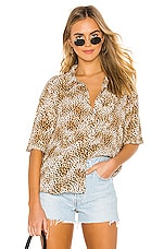 AMUSE SOCIETY Feline Woven Top in Natural