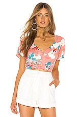 AMUSE SOCIETY Beach Baby Crop Top in Guava