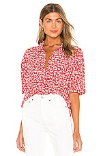 AMUSE SOCIETY Miaou Short Sleeve Blouse in Spice