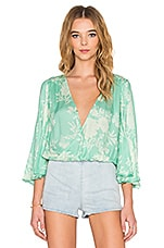Pipa Blouse en Coastal Green