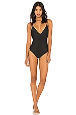AMUSE SOCIETY Isidora One Piece in Solid Black