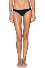 Everly Solid Skimpy Bikini Bottom in Black Sands