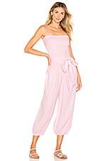 ANAAK Kai Smock Jumpsuit in Blossom Pink