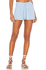 ANAAK Maithili Tie Mini Shorts in Sea Blue