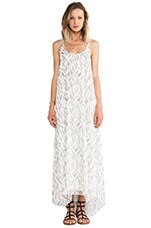 ANINE BING Maxi Dress in Feather Print