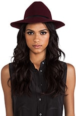 ANINE BING Bohemian Hat in Burgundy
