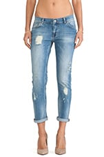 Distressed Jean in Light Wash