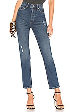 ANINE BING Peyton High Waist Skinny Jean in Navy