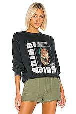 ANINE BING Wild Cat Bing Sweatshirt in Charcoal