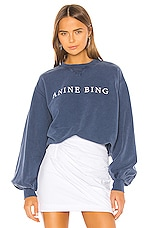 ANINE BING Esme Sweatshirt in Navy