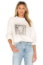 ANINE BING Ramona Walk With Me Sweatshirt in Ivory