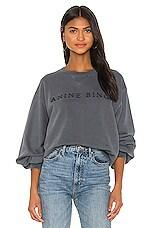 ANINE BING Esme Sweatshirt in Washed Indigo