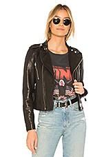 ANINE BING Collarless Moto Jacket in Black
