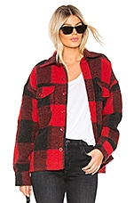 ANINE BING Bobbi Flannel Jacket in Red