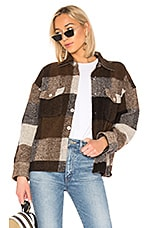 ANINE BING Bobbi Flannel Jacket in Brown