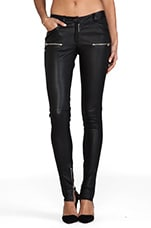 Leather Skinny Pant in Black