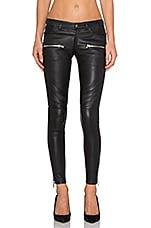 Leather Biker Pants in Black
