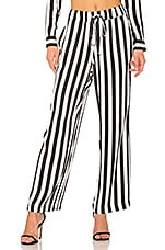 ANINE BING Striped Pajama Pant in Black & White