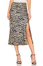 ANINE BING Dolly Silk Skirt in Zebra