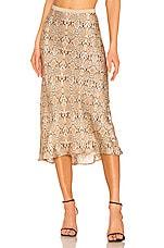 ANINE BING Bar Silk Skirt in Python