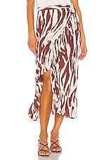 ANINE BING Lucky Wrap Skirt in Zebra