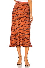 ANINE BING Bar Silk Skirt in Zebra