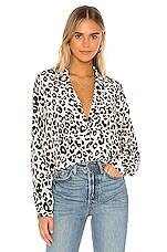 ANINE BING Lilah Silk Blouse in Leopard