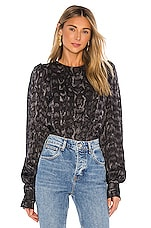 ANINE BING Renee Blouse in Charcoal