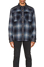 A.P.C. Mark Shirt Jacket in Blue