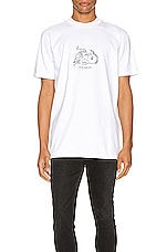 A.P.C. x JJJJound Rough Tee in Blanc