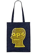 A.P.C. Brain Dead Tote Bag in Jaune